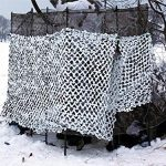 NICEFISH Masque de Camouflage Netting Netting Camouflage Militaire Camouflage Net Photographie décoration Fond Pare-Soleil Stores Chasse (Customize) (3x4M(10x13ft),Blanc)