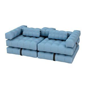 Pigro Felice 921986-AZURBLUE Modul'Air Luxe Set Canapé Gonflable PVC Bleu Ciel 234 x 117 x 72 cm