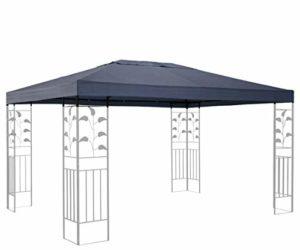 Quick-Star Toit de Rechange pour pavillon de Jardin Gris 3 x 4 m