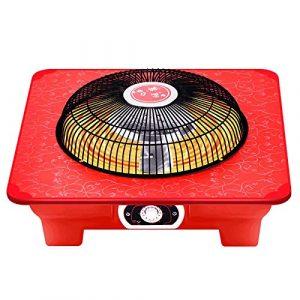Réchauffeur de brasier électrique petit soleil maison économe en énergie à rôtir brasero cage à oiseaux rôtissoire poêle étudiant économie d'énergie à rôtir arme à feu petit mini réchauffeur-Rouge