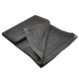 Renforcement des Bords Nets avec Un Trou en métal Un écran Solaire Durable Bonne Ventilation de la Fibre de Polyester extérieure Pleine d'entrain, 21 Verges (Color : Black, Size : 2x3m)