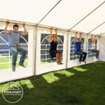 Tente Barnum de Réception 3×6 m ECONOMY Bâches Amovibles PVC 500 g/m² blanc / Jardin Tonnelle Pavillon Chapiteau