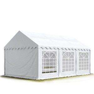Tente de réception / Barnum 3×9 m – ignifugee blanc toile de haute qualité 500g/m² PVC ECONOMY INTENT24