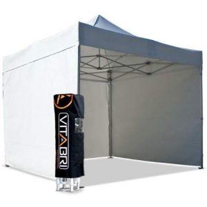 Tente Pliante V3S5-Pro PVC Blanc – 4 x 4 m 4 m