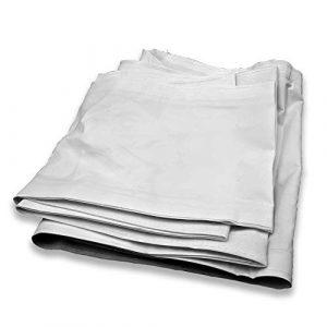TERRE JARDIN Gouttière pour tonnelle Pliante 3 x 3 Professionnelle Blanc