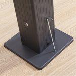 Tonnelle/Pergola Aluminium 3x3m Toile coulissante rétractable – Gris Taupe – Hero