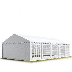TOOLPORT 5×10 m Tente de réception/Barnum Blanc Toile de Haute qualité 500g/m² PVC
