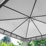 TOOLPORT Pavillon de Jardin 3x4m ALU Premium 280 g/m² bâche imperméable pavillon 4 côtés Tente de Jardin Taupe Clair 9x9cm Profil