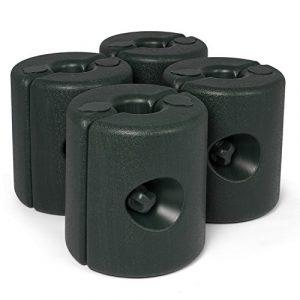 TuKnon- Lot de 4 pieds de Tonnelle – Pour stabiliser la Tonnelle – Pieds de Pavillon d'env. 24 x 24 x 25 cm – Contrepoids à lester avec eau et/ou sable