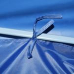 vidaXL Tente de Réception Pliable 8 Parois 3×9 m Bleu Pavillon Tonelle Jardin