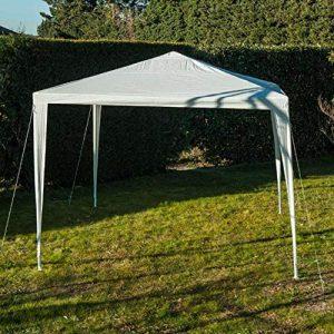 Werkapro 8909 – Tente de Reception – 3 m x 3 m – Tonnelle Barnum – Blanche