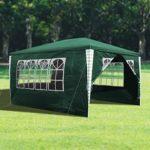 wolketon 3x4m Jardin Tonnelle étanche Jardin Camping Stable Tente Tubes d'acier Stable de Haute qualité avec 3 Parties latérales et 1 entrées étanche
