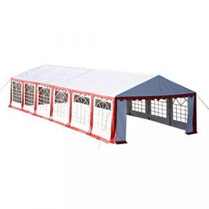 XINGLIEU Auvent Tente Tente de réception 12x 6m Rouge Pop Up Tente approximatives: Hauteur/défilement Hauteur (là où Les Gens Peuvent Marcher sous): 2m