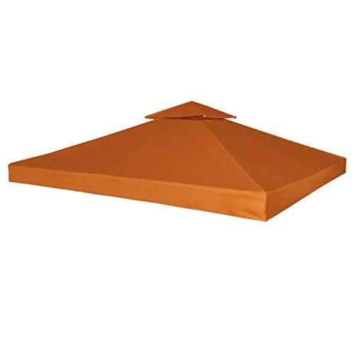 yorten Recouvrement de Remplacement d'auvent Toit de Rechange pour Tonelle Imperméable 310 g/m² 3x3m Terre Cuite