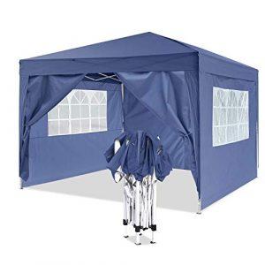 YUEBO Tonnelle de Jardin Tente Pliante 3×3 m Pavillon imperméable Gazebo Pliable Tente de Reception