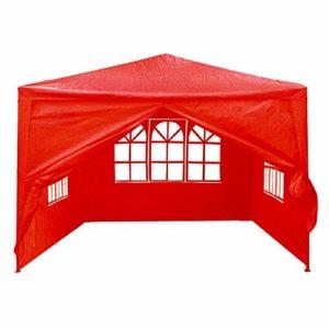ZDAMN Tente 3mx3m 4 Murs latéraux Couverture extérieure Voyager Tente Camping 2 Pare-Soleil Couleurs Pare-Soleil (Couleur : Red, Size : 3x3m)