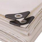 Zhangpeng Bâche Couleur Blanc PVC plus épais tissu imperméable pluie protection solaire 9 types taille peuvent être utilisés for les entrepôts de construction Camions usines et EnterprisesGulf (person