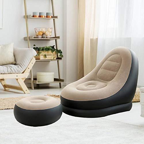 anruo Canapé Gonflable Meubles de Jardin Cour Gonflable Canapé Chaise Gonflable Chaise de Salon Pliant canapé mobilier d'extérieur