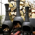 Antikas – Poêle de terrasse – Cheminée de jardin en fonte – Four de jardin – Cheminée de jardin – Étera 120 cm