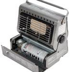 Chauffage de terrasse 1,3kW pour camping – Chauffe-terrasse en acier inoxydable – Radiateur au gaz – Parasol chauffant