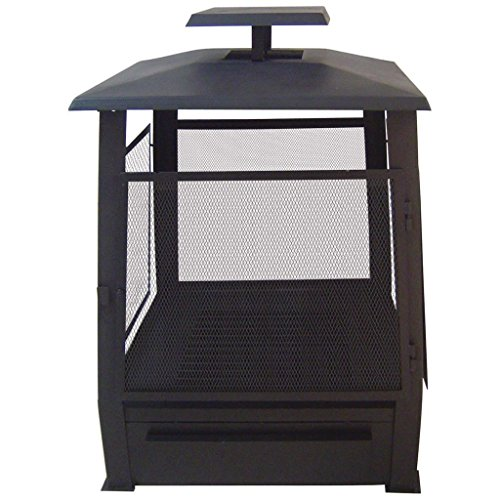 Esschert Design Cheminée d'extérieur pagode Chauffe terrasse grillagé