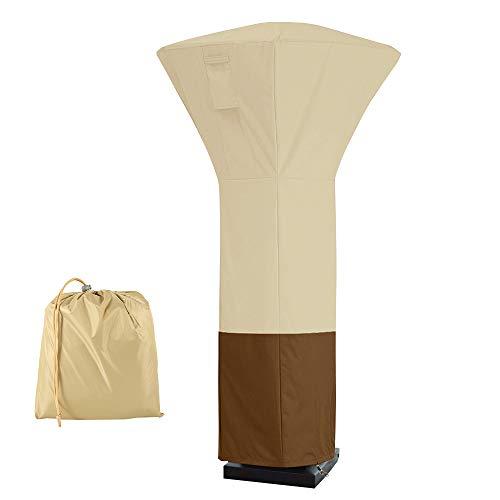 LoveStory Housse Parasol Chauffant Exterieur, Couvercle de Chauffe-terrasse Carré en Oxford 420D,Couverture de Chauffage de Patio imperméable, Housse de Chauffage Exterieur 81 * 81 * 221cm (Beige)