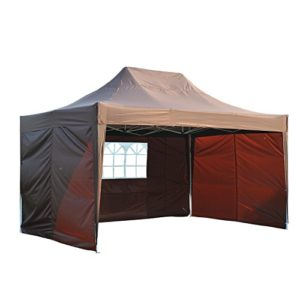 Outsunny Tonnelle Barnum Tente de Reception Pliante 3 x 4,5 m Chocolat