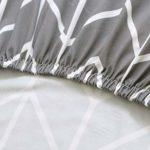 PADGENE Housse de Chaise, 4PCS/6PCS Extensible Amovible Lavable Moderne Couverture de Chaise pour Salle à Manger Slipcover-Décoration Bouquet de Mariage, Hôtel, Restaurant (Flèche Gris, 6PCS)