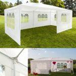 ProBache – Chapiteau 3×6 m tente tonnelle de réception blanche sans coté