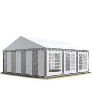 TOOLPORT 3×6 m Tente de réception/Barnum Gris-Blanc Toile de Haute qualité 500g/m² PVC