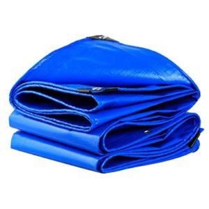 Z-P Tente Bâche, Imperméable À l'eau De Camping en Plein Air Bâche De Revêtement De Sol Isolation Solaire – Bleu-0.35mm-180g/㎡ (Taille : 4X8M)