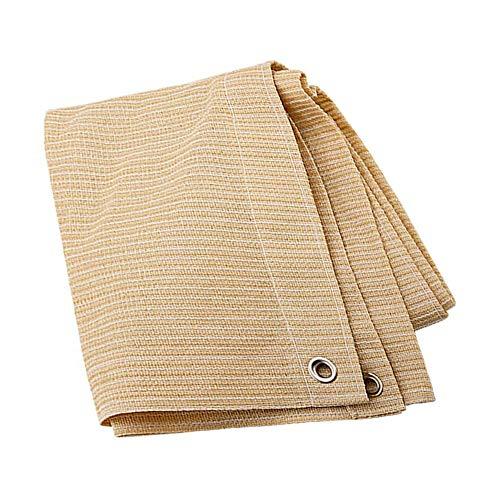 Anuo – Tissu de protection solaire – 85 % polyester – Avec œillets – Pour plantes de jardin, grange, chenil, bâche, Polyéthylène, Noir , 1x1m/3x3ft