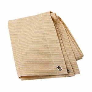 Anuo – Tissu de protection solaire – 85 % polyester – Avec œillets – Pour plantes de jardin, grange, chenil, bâche, Polyéthylène, Noir , 2x4m/6x12ft