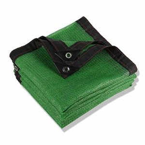 Anuo – Toile solaire rectangulaire 80 % en tissu avec œillets – Pour serre et niche, Polyéthylène, Vert, 5x10m/15x30ft