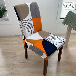 Bureau résistant à la poussière de chaise couverture de chaise élastique imprimé housse de chaise housse anti-sale siège élastique banquet chaise housse confortable sans repassage