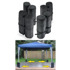 D & S Vertriebs GmbH Tente Sac de sable Poids Set Lot de 414x 42cm Noir