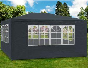 Deuba Tonnelle Maui – 3x4m – Anthracite – Barnum revêtement imperméable – Pavillon Tente de Jardin