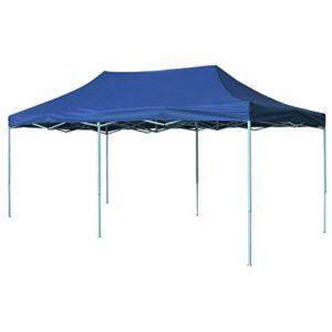 Festnight Pavillon de Jardin Tente de Reception pour Jardin fête | Tonnelle Pliante imperméable | Tente Pliable 3 x 6 m Bleu
