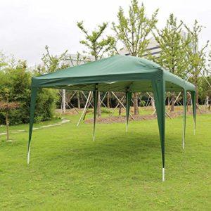 Grande tonnelle avec panneaux latéraux Vert 3 x 6 m
