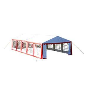 Lixada Toile de Rechange pour Tente de Réception 12 x 6 m en Rouge et Blanc