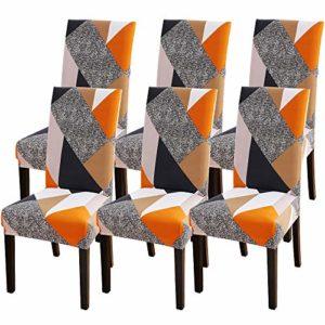 NIBESSER Lot de 1/2/4/6 Couverture de Chaise en Spandex Amovible Housse De Chaise Stretch Élastique Protecteur de Siège pour Banquet Mariage Restaurant Hôtel Cérémonie Bureau