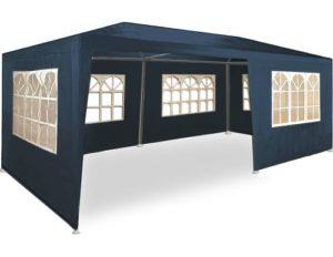Tonnelle de Jardin Rimini Bleu 3x6m avec Toile Hydrofuge 6 parois latérales Barnum Tente de réception fête extérieur