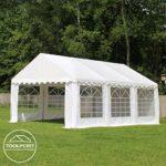 TOOLPORT 4×8 m Tente de réception/Barnum Vert foncé Toile de Haute qualité 500g/m² PVC