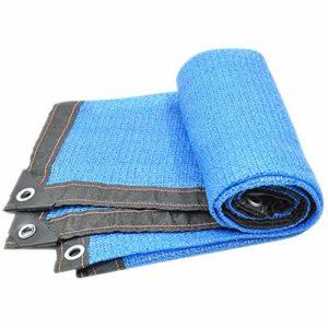 WXQIANG Toile d'ombrage 90 % anti-UV rectangulaire pour terrasse, cour et activités de plein air, Polyéthylène, bleu, 9.9×13.2ft/3x4m