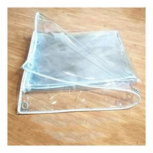 ZX XZ Imperméable renforcé extérieur Couverture végétale Bâche Transparent imperméable à l'eau en Verre Lourd Transparent Bâche (Color : Clear, Size : 3x4m)