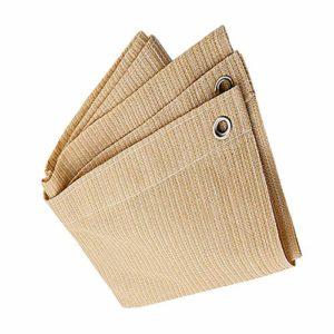 Anuo – Tissu de protection solaire avec œillets – Toile de protection contre le soleil – Pour plantes de jardin, grange, chenil, bâche, Polyéthylène, beige, 3x6m/9x18ft