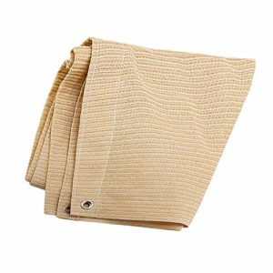 Anuo – Tissu de protection solaire en maille pour ombrage – 85 % de pergola – Bord adhésif avec œillets – Pour plantes de jardin, grange, chenil, bâche, Polyéthylène, beige, 1x2m/3x6ft