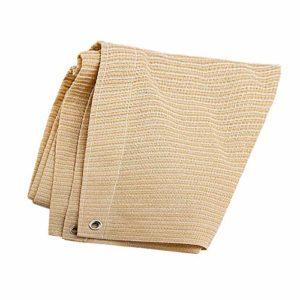 Anuo – Tissu de protection solaire en maille pour ombrage – 85 % de pergola – Bord adhésif avec œillets – Pour plantes de jardin, grange, chenil, bâche, Polyéthylène, beige, 1x3m/3x9ft