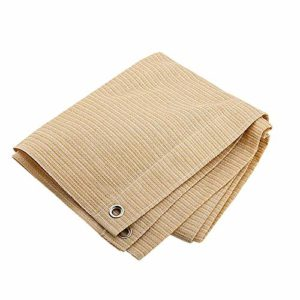 Anuo – Tissu de protection solaire en maille pour ombrage – 85 % de pergola – Bordure de protection avec œillets – Pour plantes de jardin, grange, chenil, bâche, Polyéthylène, beige, 1x2m/3x6ft