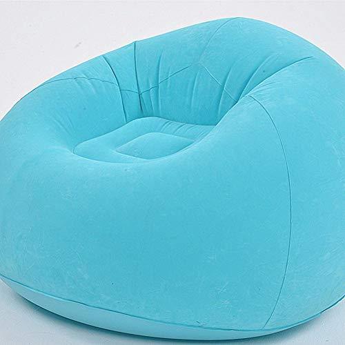 Canapé Gonflable Portable Fauteuil Lounge Souple Coloré Meubles Siège pour Jardin, Salon, Camping Bleu Couleur multicolore.